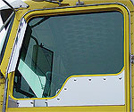 Kenworth Under Window Trim-Straight Bottom- Dimples For Daylight Doors