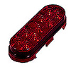 Oval 9 LED Red Lens Stop/Tail/Turn-Lightning Series