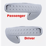 Freightliner Cascadia Interior Door Handle Trim, Chrome Plastic-Driver or Passenger Side