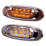 13 Amber LED Oval Light