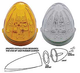 19 LED Watermelon Cab Light Amber or Clear Lens-Replacement Lens for Grakon 1000 Housing