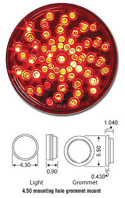 Twister Style Stop/Tail/Turn-61 Red LED Diodes