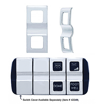 Freightliner Cascadia Chrome Switch Cover-2 Openings