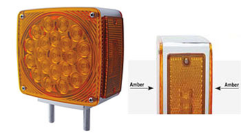 Square LED Turn Signal Light-Amber Both Sides