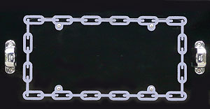 License Plate Frame- CHAIN PERIMETER
