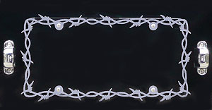 License Plate Frame-BARBED WIRE